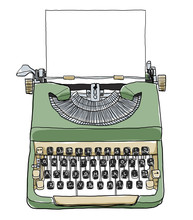 Green British Typewriter With ...