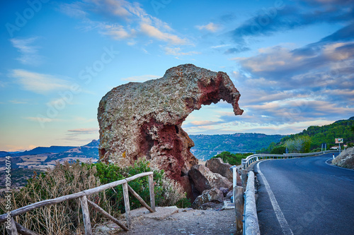 Photo  Roccia dell' Elefante / Rock in shape of Elephant in Sardinia - Italy