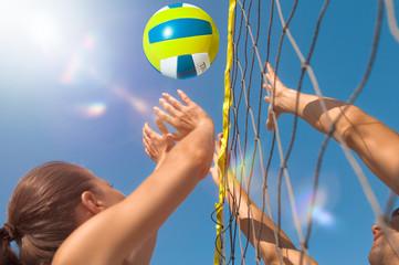 Fototapeta Volleyball am Strand