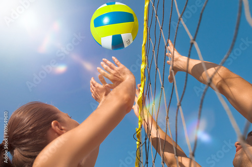 obraz lub plakat Volleyball am Strand