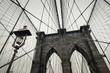 Low angle view of Brooklyn Bridge, New York, USA