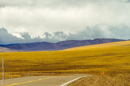 Fotografía  Ruta Nacional 60 en la cordilerra de Los Andes (Catamarca, Argentina), hacia la