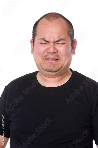 Fototapety, obrazy: Middle man feeling unhappy and cry
