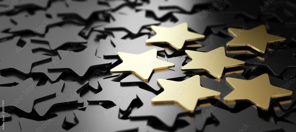 Fototapeta Excellent Customer Service, 6 Golden Stars.