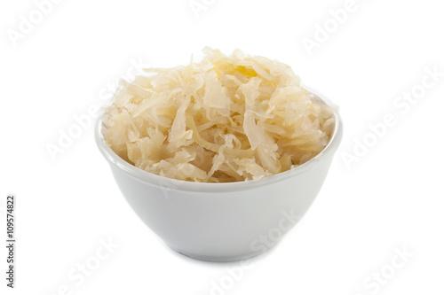 Canvas-taulu a bowl of sauerkraut