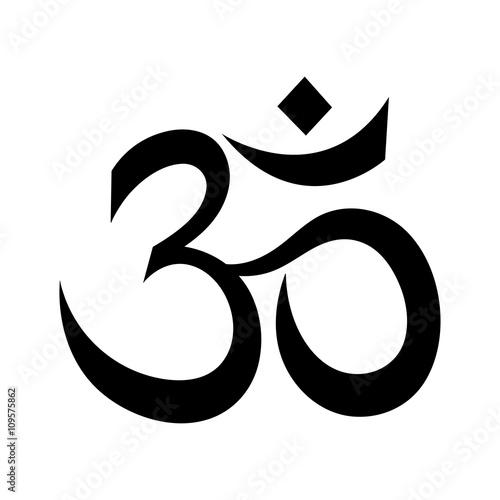 Om or Aum Indian sacred sound Fototapet