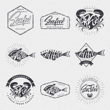 Seafood - Poster, Stamp, Badge...