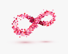 Infinity Love Symbol Of Rose P...