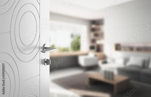Fotografie, Obraz  Porta aperta ospitalità soggiorno salotto