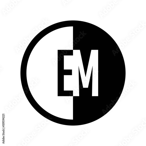 Photo  INITIAL CIRCLE HALF LOGO EM