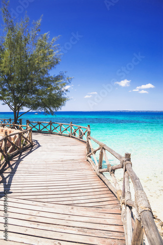 Poster Zanzibar Beautiful bay on the tropical island of Zanzibar