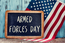Text Armed Forces Day And Flag...