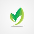abstract green leaf ecology logo