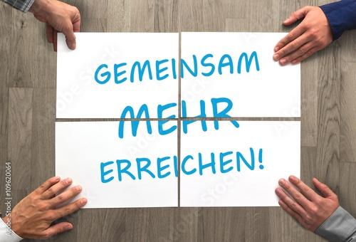 Fotografie, Obraz  Gemeinsam mehr erreichen!