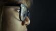 Woman wearing glasses serfing internet 4k UHD (3840x2160)