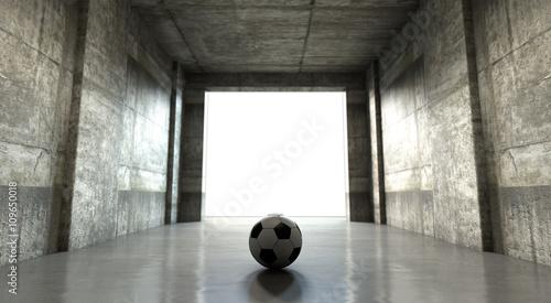 Tunel stadionu piłkarskiego