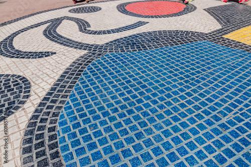 Photo  Mosaïque de Miró sur La Rambla à Barcelone