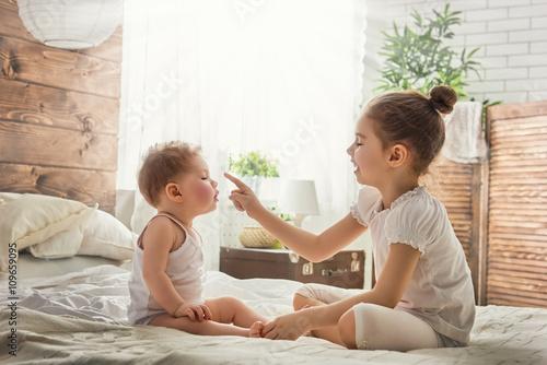two loving sisters