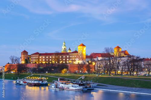 Fototapeta Wawel Castle in the evening in Krakow, Poland obraz