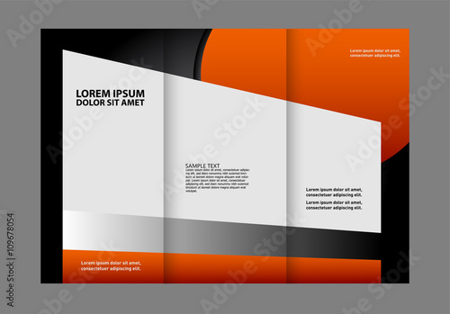 Custom Tri Fold Brochure Template Works Great For Either The Inside