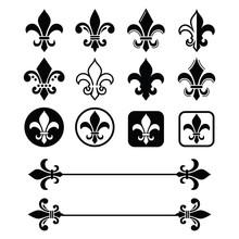 Fleur De Lis - French Symbol D...