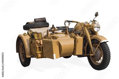 Photo  alters deutschers oldtimer militär- motorrad
