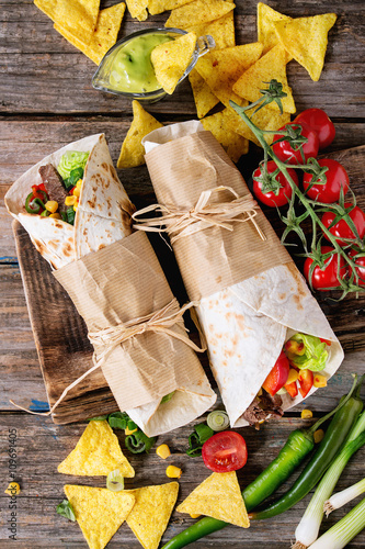 Keuken foto achterwand Picknick Tortillas and nachos