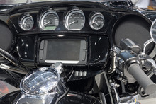 Wide Set Handlebar Of Motorcyc...