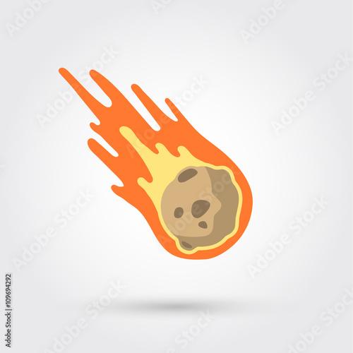 Obraz Flame meteorite  - fototapety do salonu