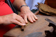 Cigars are made by hand