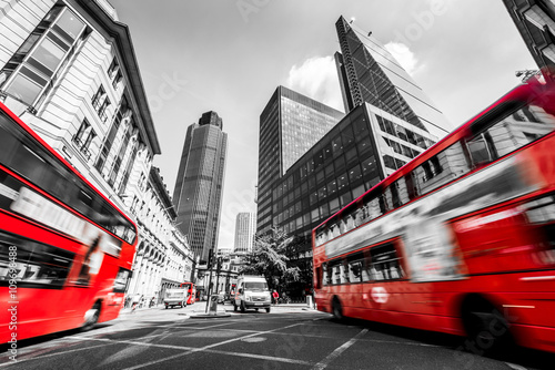 Foto op Canvas Londen rode bus London