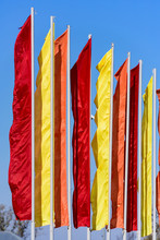 Festive Flags Of Different Colors