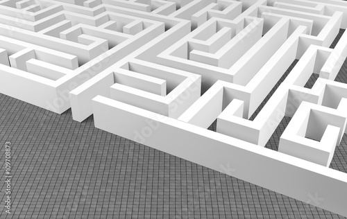 Valokuvatapetti Maze background, complex problem solving concept