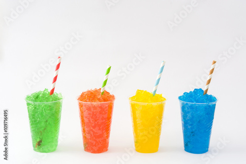 Colorful summer slushies