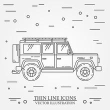 Jeep Thin Line.  Jeep Travel G...