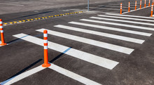 White Traffic Markings With A ...