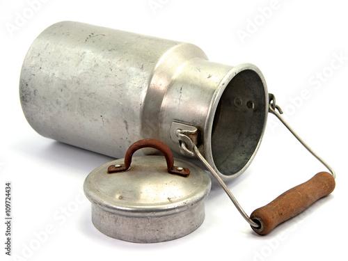 Fotografie, Obraz  Alte Milchkanne aus Aluminium