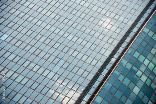 Photo  Huge office building of glass