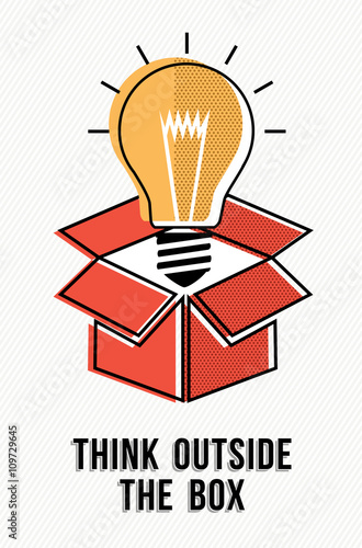 Think Outside The Box Powerful Ideas Concept Buy This Stock Vector