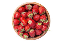 Strawberries In Wooden Bowl, I...