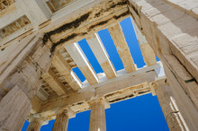 Parthenon Columns At Sky Backg...