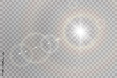 Tablou Canvas Vector transparent sunlight special lens flare light effect.