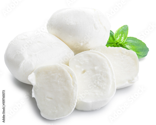 Mozzarella and basil.