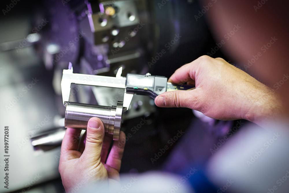 Fototapeta Quality control manufacturing