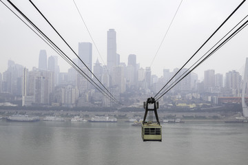 Chongqing Cable Car across Yangtze River, Yuzhong, China