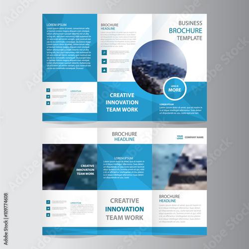 Blue elegance business trifold business leaflet brochure flyer blue elegance business trifold business leaflet brochure flyer template vector minimal flat design set friedricerecipe Image collections