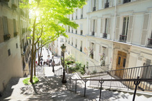 Morning Montmartre Staircase I...