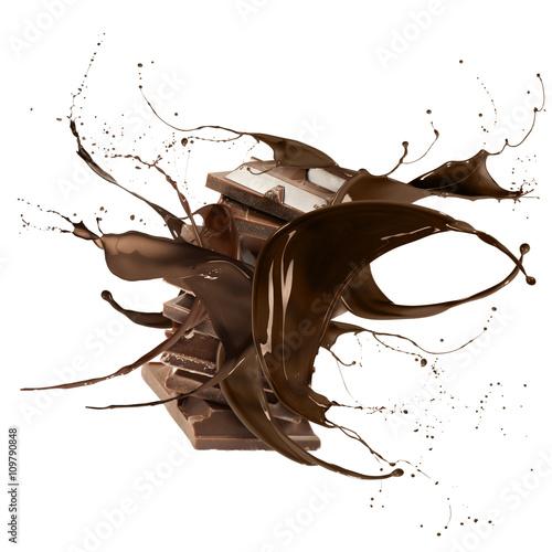 liquid chocolate Fototapete