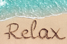 Word Relax Is Hand Written On ...