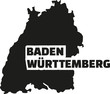 Baden-Württemberg map with title
